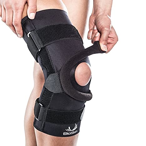7b31cd82c6 Q Brace for Patellofemoral Pain (Front Closure) - by BioSkin (L):  Amazon.in: Sports, Fitness & Outdoors