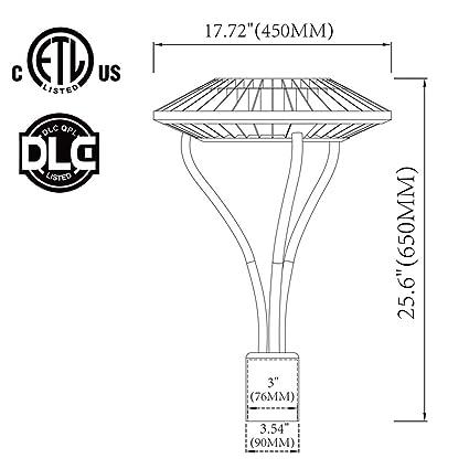 80w Led Post Top Light Park Area Lamp 120208240277 Volt 5500k