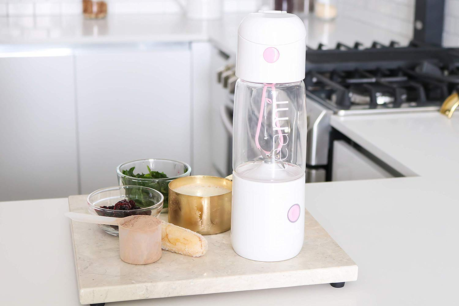 18.6oz Teami MIXit Portable Blender 2.0 Use at the Office or Gym 30 Seconds for Smoothies and Protein Shakes Personal Blender with 6 Powerful Blades USB Rechargeable GLASS Baby Pink
