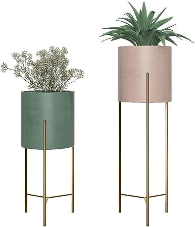Maceteros para Macetas De JardíN, Estante para Flores En Interiores, Contenedores De Plantas (2 Paquetes): Amazon.es: Hogar