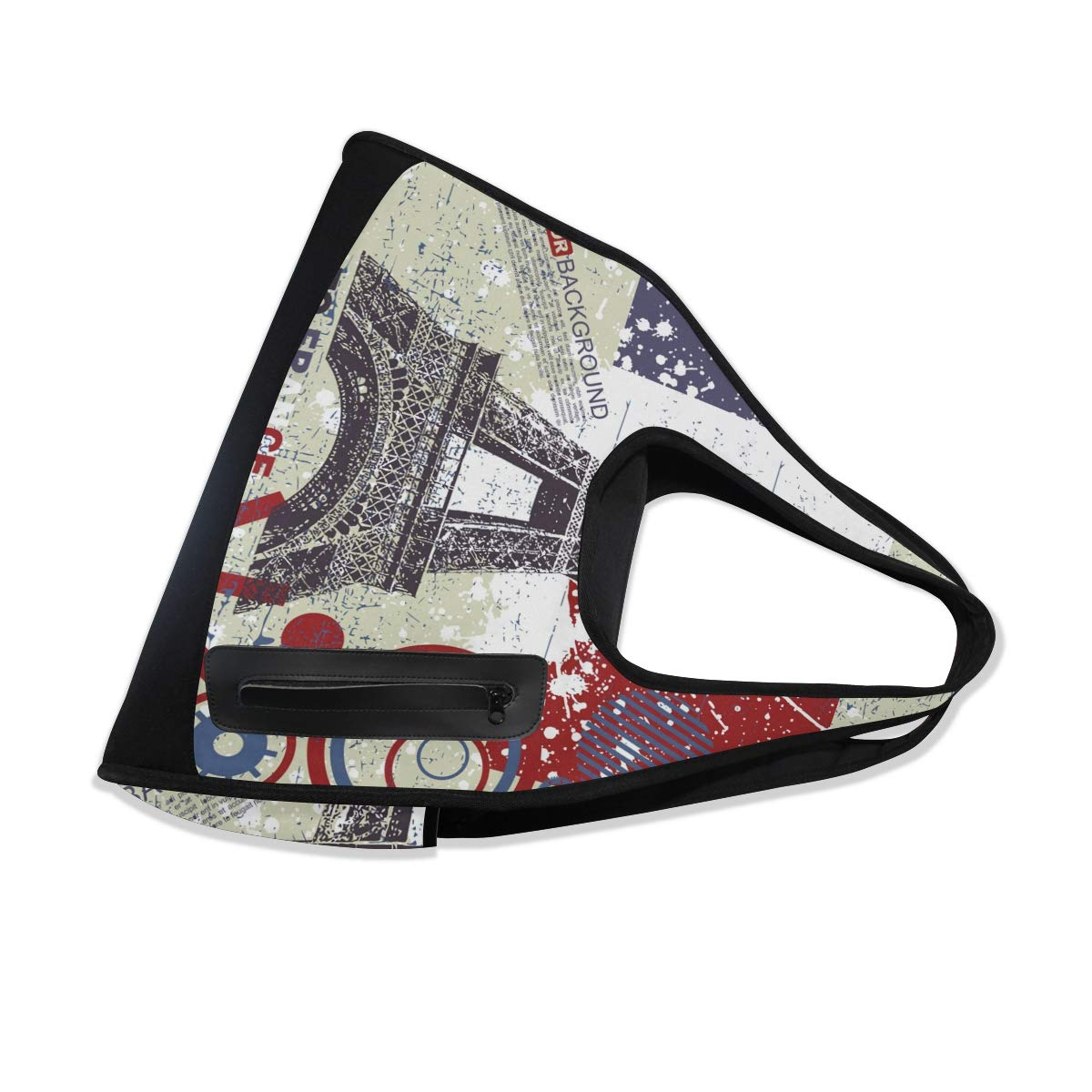 Gym Bag Sports Holdall Vintage Retro Eiffel Canvas Shoulder Bag Overnight Travel Bag for Men and Women
