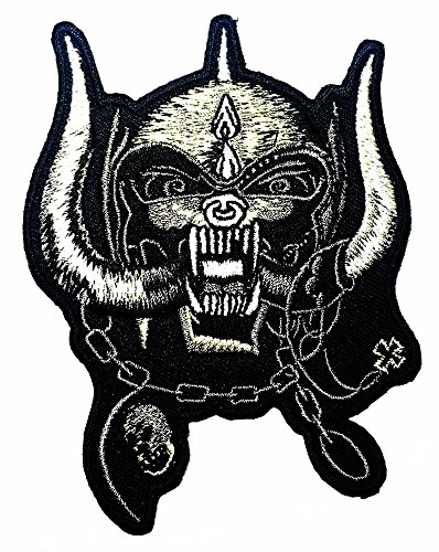 Motorhead England skull Rock Heavy Metal Punk Music Band iron on sew on Jacket sew on T-shirt Sew Iron on Patch Badge Embroidery - Motorhead Skull Jackets