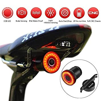 9356e675c Hootracker Luz de Cola para Bicicleta Inteligente Ultra Brillante, LED Bici  Luz Trasera Inducción luz