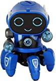 Toyshine Bot Robot Pioneer | Colorful Lights and Music | All Direction Movement | Dancing Robot Toys for Boys and Girls | Blue
