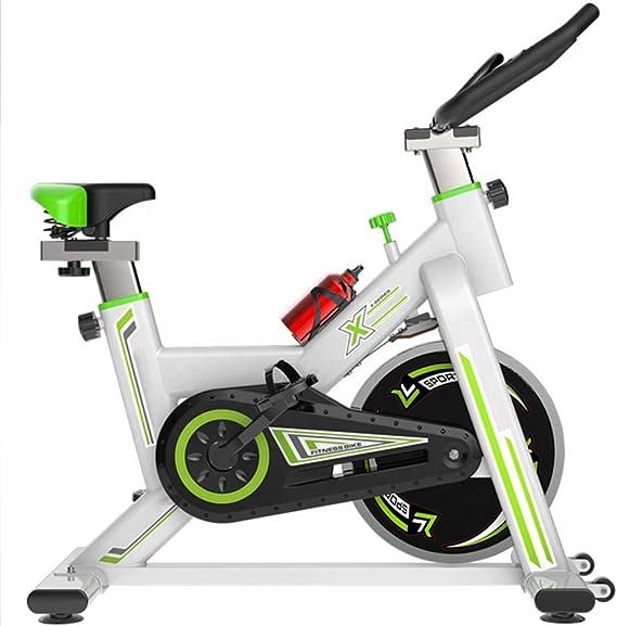HARUONE Bicicleta Estatica Vertical Bicicleta Spinning, con Pantalla LCD Mudo Estupendo Cuerpo Esculpir Pie Bicicleta Estática, Asiento Ajustable Bici Deporte,Whitegreen: Amazon.es: Deportes y aire libre