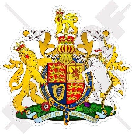 UNITED KINGDOM Royal Coat of Arms Badge Crest UK 90mm (3.6