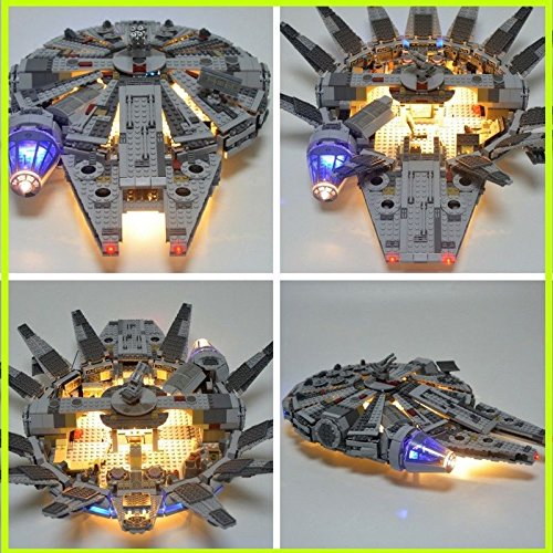 New Lighted Starwars Millenium Falcon Spaceship with led Lighting kit.