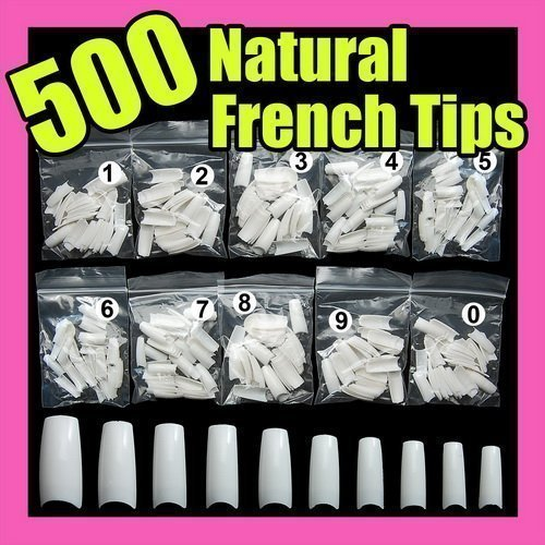 CyberStyle 500 White False French Nail Art Tips Uv Acrylic False Nail Tips