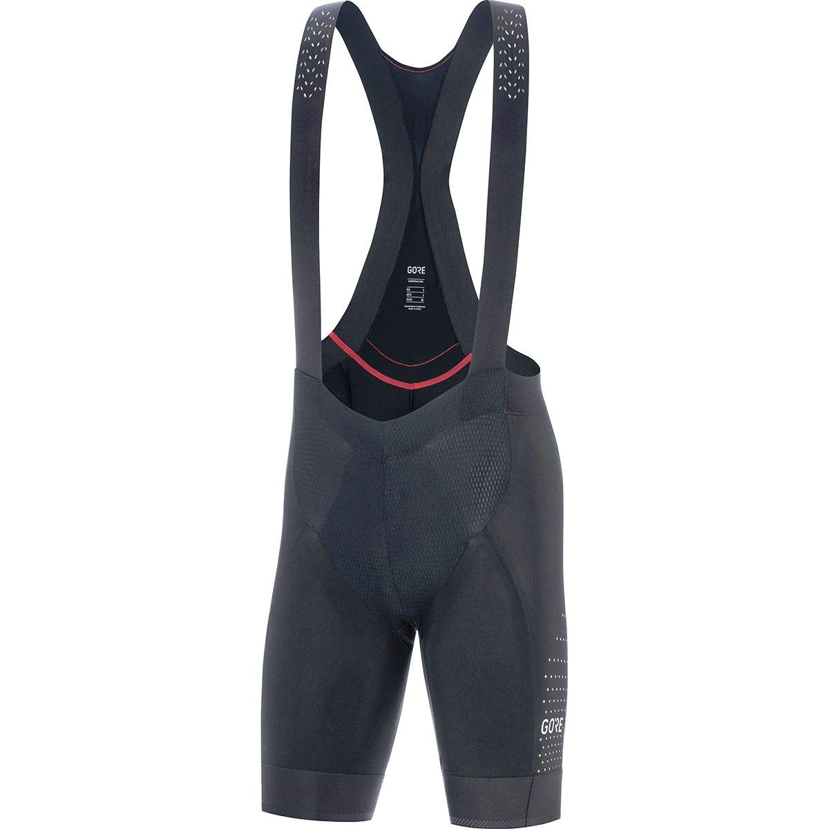 GORE WEAR C7 Men's Ventilated Racing Bib Shorts with Seat Insert, S, Black