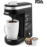 CHULUX Single Serve Coffee Maker Brewer for Single Cup Capsule with 12 OZ Water Tank(Black)