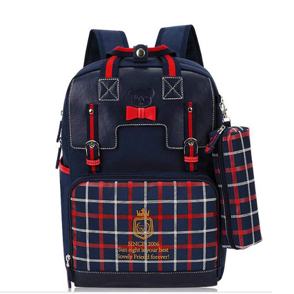 Uns Primary スクールバッグ 1-2-5グレード キュート ガール ショルダー バーデン バックパック ブルー UNS00121 B07KYQ63Y8 ブルー