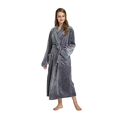 08dfe96cee TIMSOPHIA Long Fleece Robe for Women