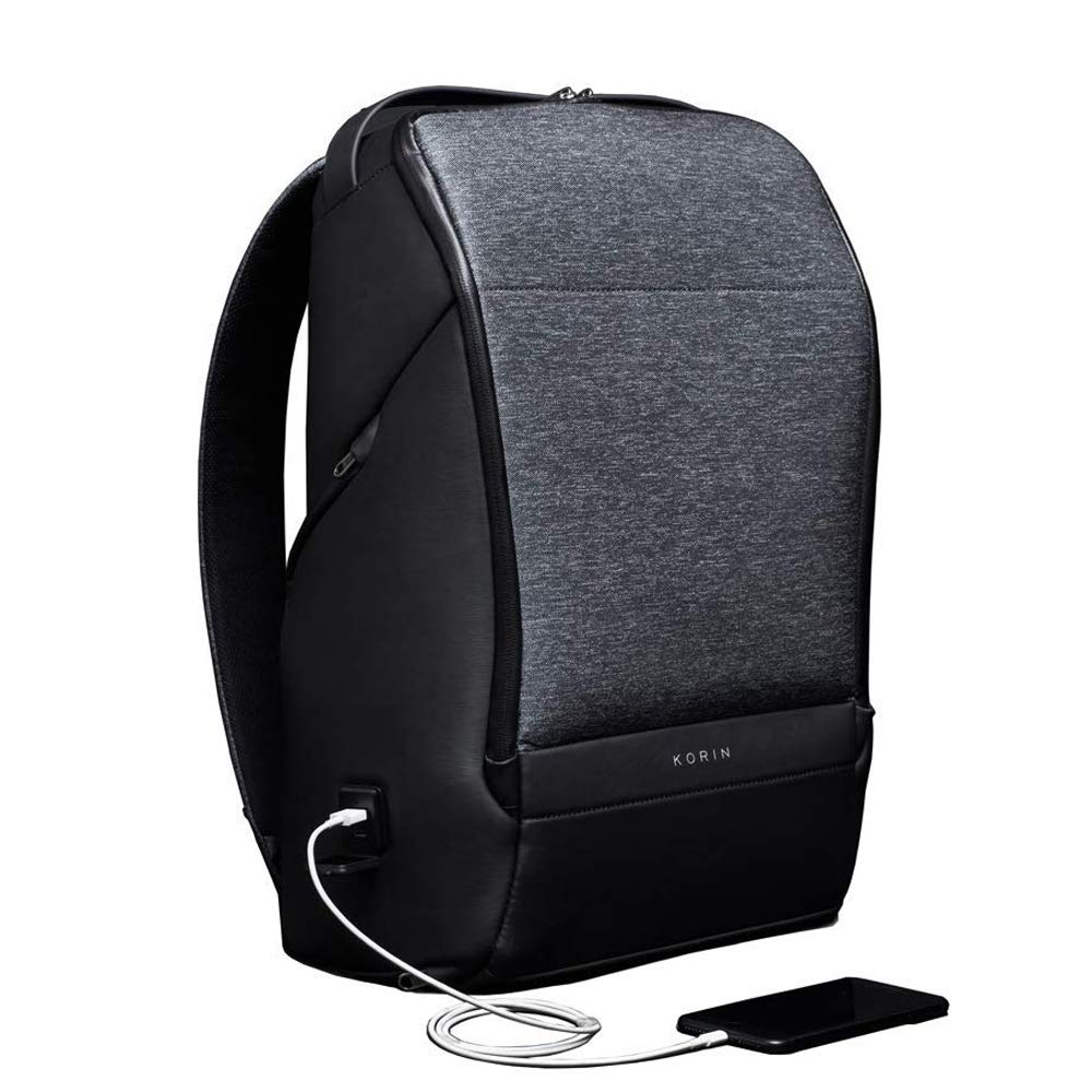 KORIN FlexPack Pro Multifunctional Flexibility Anti-Theft Backpack 15.6 inch Laptop Bag with 2.0 USB Charging Port Large Capacity Waterproof TSA Travel Friendly Easy Convenient Secure