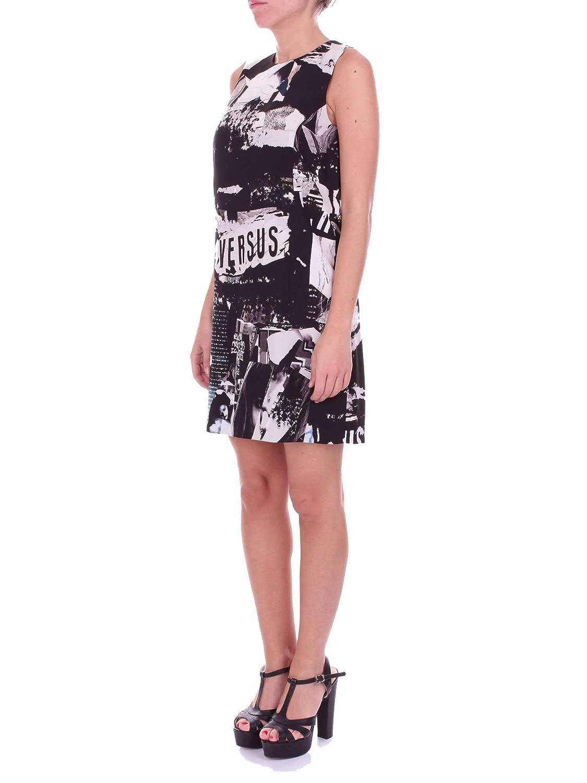 Dress Black Women's Versace Bd00904bt21010b7008 Polyester Versus SzVpUqM