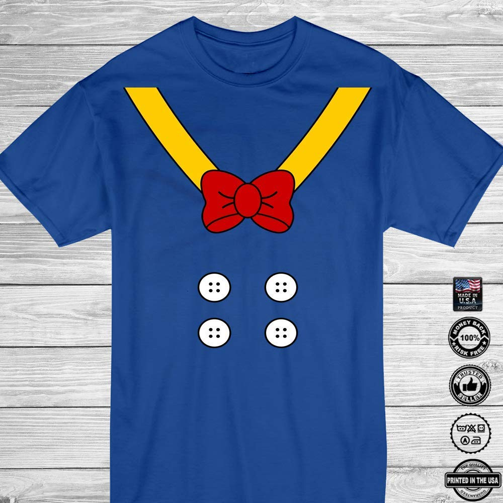 Donald Costume Suit and Bowtie Outfit Duck Character Lover Halloween Cosplay Customized Handmade T-Shirt Hoodie/Long Sleeve/Tank Top/Sweatshirt