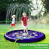 Lunvon Sprinkler Splash Pad for Kids, 68 Inches Wading Pool, Water-Filled Play Mat Sprinkler Pool, Inflatable Water Toys, Large Outdoor Swimming Pool for Babies, Toddlers