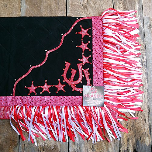 HILASON Western Show Barrel Racing Rodeo Horse Saddle Blanket Design Shoe & Star