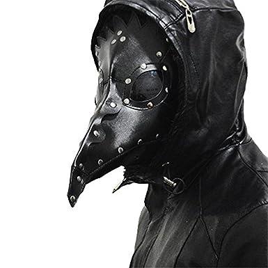 Basecamp Negro médico de la peste negra máscara Props Halloween Steampunk disfraz Rock piel sintética