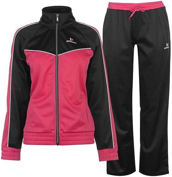 Donnay - Pantalón de chándal para Mujer, Color Negro y Rosa ...