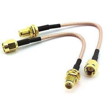2pcs RF línea de conexión de RG316 altavoz de inalámbrico de alta frecuencia conector de cable