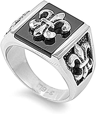 JewelryVolt Stainless Steel Ring Eternity Stackable