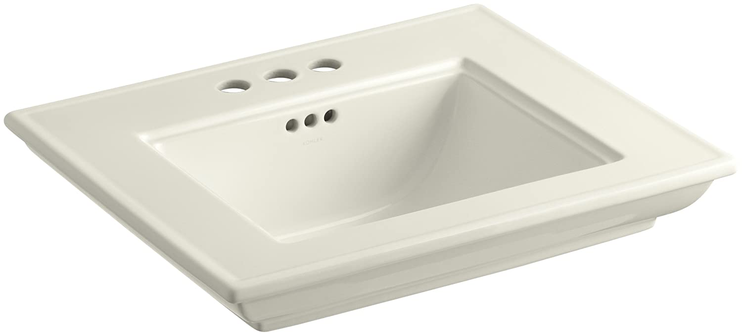 KOHLER K-2345-4-NY Memoirs Bathroom Sink Basin with Stately Design and 4' Centers, Dune