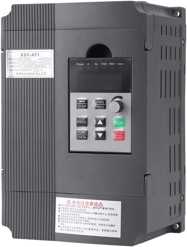 Delaman 220V Regulador de Velocidad Variable del Variador de Frecuencia VFD de para un Motor de CA Trifásico de 2.2kW