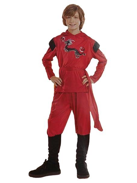 Amazon.com: Boys rojo dragón Ninja Niño – disfraz para ...