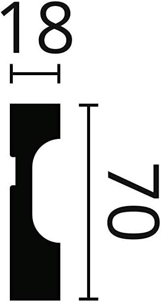 NMC Wallstyl Fussleiste FD7 Polystyrol HD