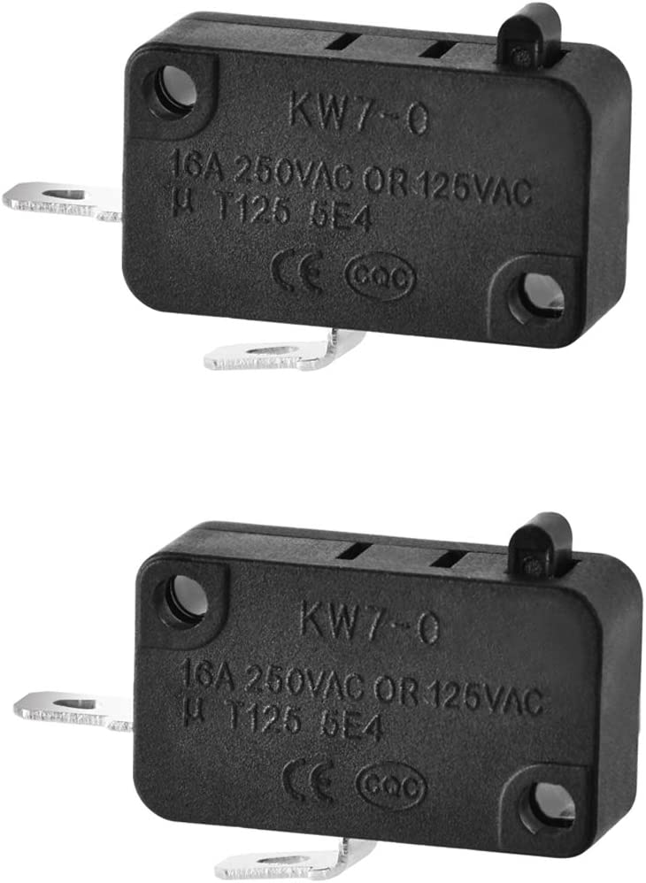 SZM-V16-FD-63 Microwave Oven Door Switch Replacement Compatible with LG/GE/Starion, Micro Oven Door Switches Micro Switch Microwave RE1 (Normally Open), 2 Pieces