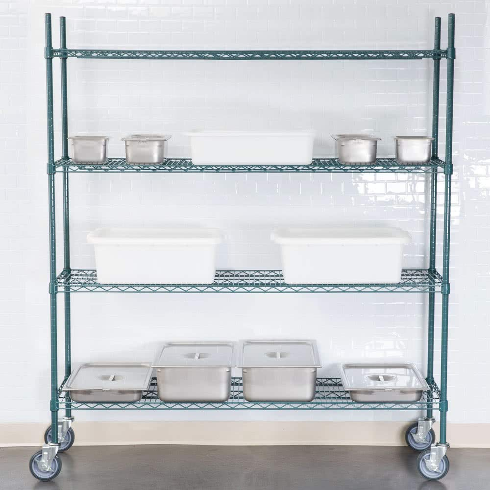 Commercial Epoxy Wire Shelving 18 x 36 - NSF (2 Shelves) by L and J (Image #4)