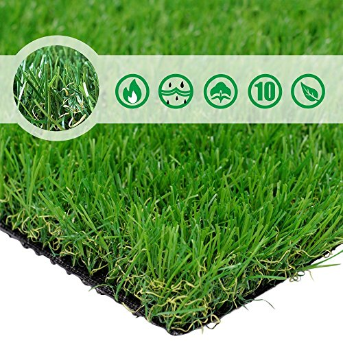 PET GROW 4'x7 Pet Pad Artificial Realistic & Thick Fake Mat for Outdoor Garden Landscape Dog Synthetic Grass Rug Turf, 4' x 7', Green ()