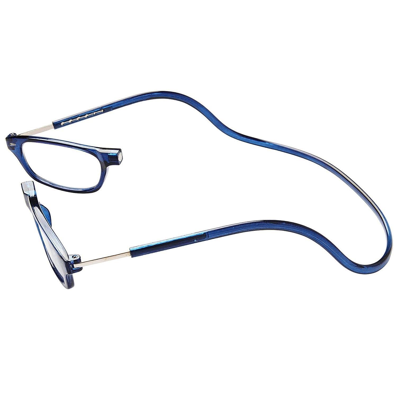 TBOC Gafas de Lectura Presbicia Vista Cansada – Montura Azul Graduadas +1.50 Dioptrías Hombre Mujer Regulables Imantadas Magnéticas Plegables Lentes ...