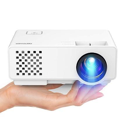 DBPOWER Mini Proyector PortáTil Full HD de 2000 LúMenes con Pantalla de 200 Pulgadas Compatible con 1080P de Video Casero Vida úTil De 50,000 Horas, ...