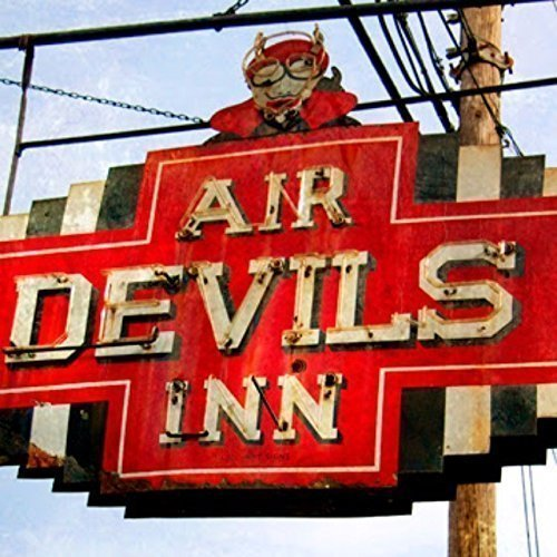 Wood Wall Art Photography - Decorative Neon Sign: Air Devils Inn, Louisville, KY ()
