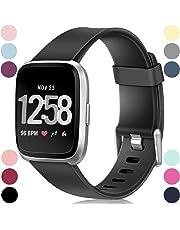 HUMENN Armband Für Fitbit Versa/Fitbit Versa Lite, Classic Weiches TPU Sports Ersetzerband Verstellbares Zubehör Uhrenarmband für Fitbit Versa Smartwatch