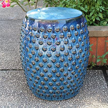Merveilleux International Caravan OPG 070 NV IC Furniture Piece Perforated Navy Blue  Drum Ceramic
