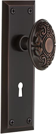 Nostalgic Warehouse New York Plate Interior Mortise Victorian Door Knob In Timeless Bronze Amazon Com