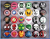 30 Superhero Magnets. Mini 1' Refrigerator Magnet Set. Birthday...