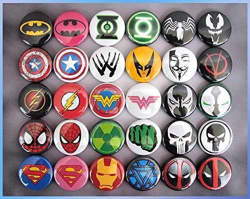 30 Superhero Magnets. Mini 1