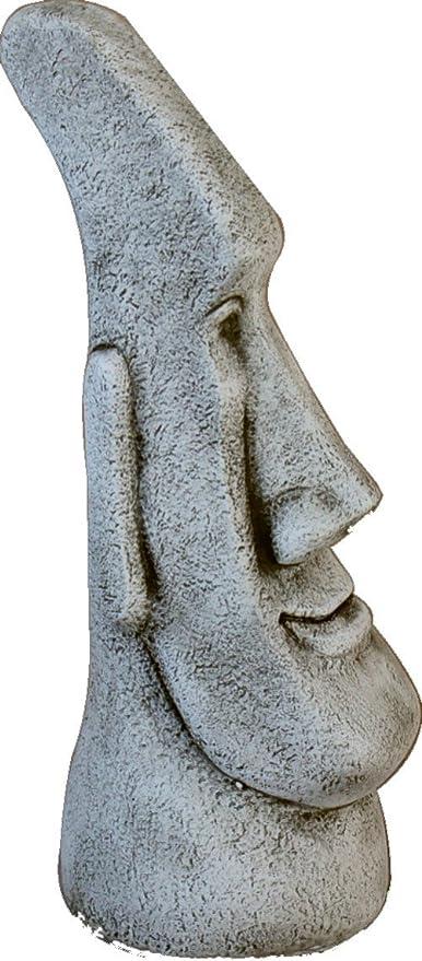 DEGARDEN Figura AnaParra Figura Decorativa Cabeza de Pascua Moai de hormigón-Piedra para jardín o Exterior 77cm.: Amazon.es: Jardín