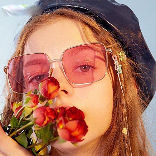 de sol cuadradas Gafas europeo y sol tamaño mujer cara redondas de la estilo del Un la de AN UN personalidad gafas la gafas de de americano AEqFdxBU