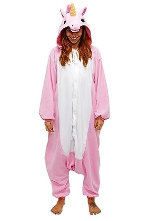 Resultado de imagen de Chicone Unicorn Kigurumi Pijamas Unisexo Adulto Traje Disfraz Animal Adulto Animal Pyjamas Traje Disfraz de Halloween