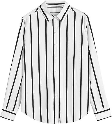 VPASS Hombre Camisas Manga Larga Camiseta Formales Casual Color Sólido Raya Negocios Camisa de Moda Slim Fit Long Sleeve Blusa Tops Botón Shirt básica: Amazon.es: Ropa y accesorios
