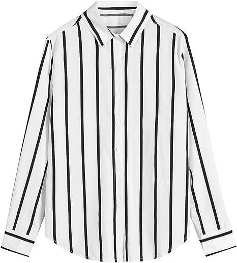 VPASS Hombre Camisas Manga Larga Camiseta Formales Casual ...