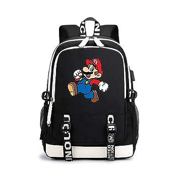 Super Mario Modelos de Pareja Mochila Multifuncional de Diseño Escolares Popular Cómodo Mochila de Viaje Durable Mochila: Amazon.es: Equipaje