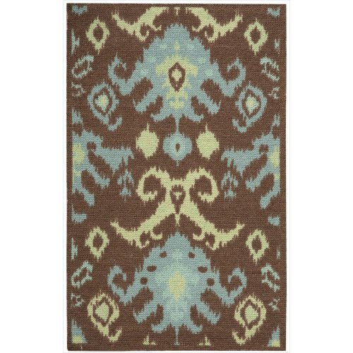 Nourison Vista (VIS20) Chocolate Rectangle Area Rug, 2-Feet 6-Inches by 4-Feet  (2'6