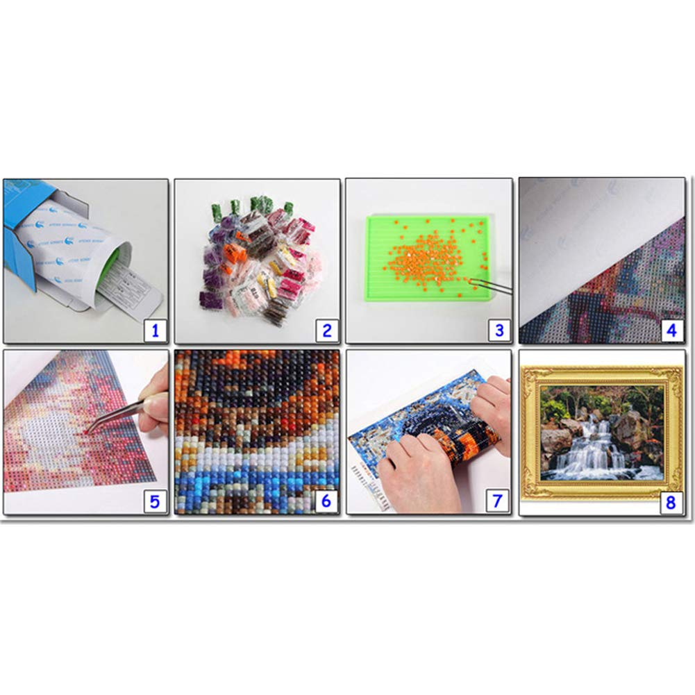 Purple Wind Goal DIY 5D Diamond Painting by Number Kits Full Drill Flowers Embroidery Cross Stitch Pictures Arts Craft for Home Wall Decor