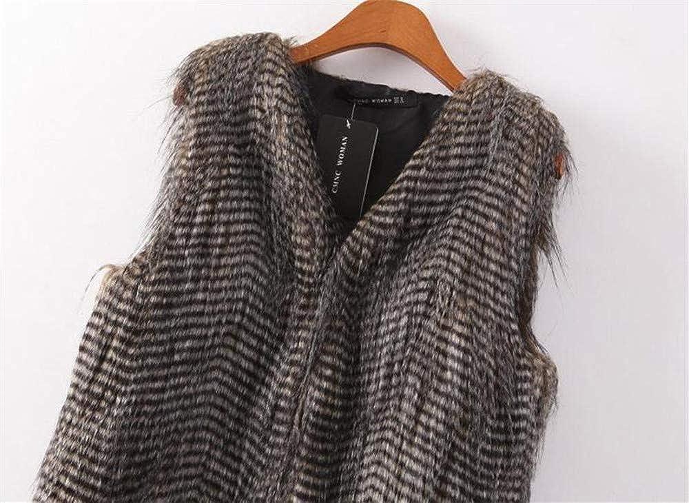 zongxingyt 2019 Women Vest Sleeveless Coat Outerwear Long Hair Jacket Waistcoat Woman Vest 2019