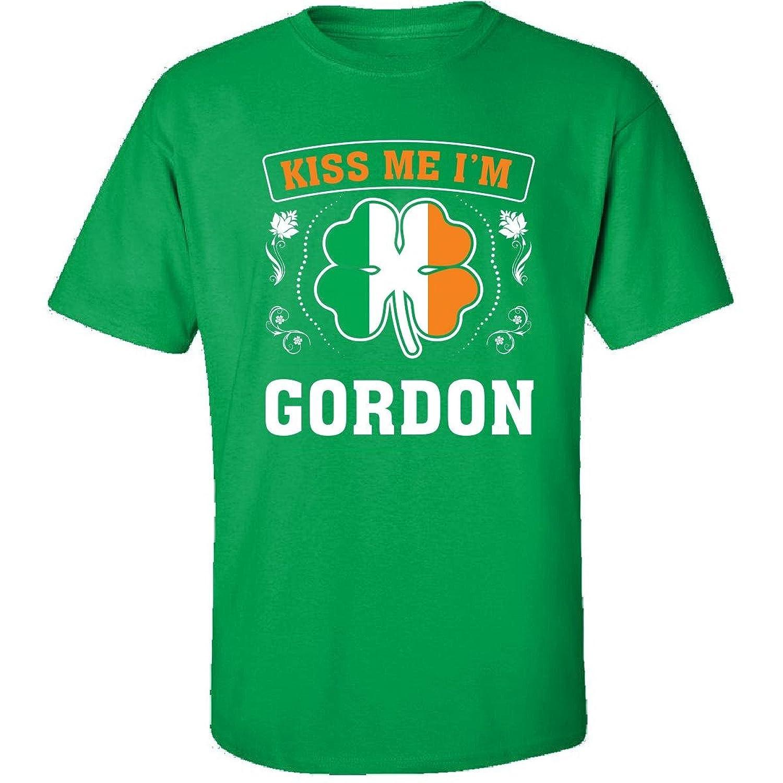 Kiss Me Im Gordon And Irish St Patricks Day Gift - Adult Shirt